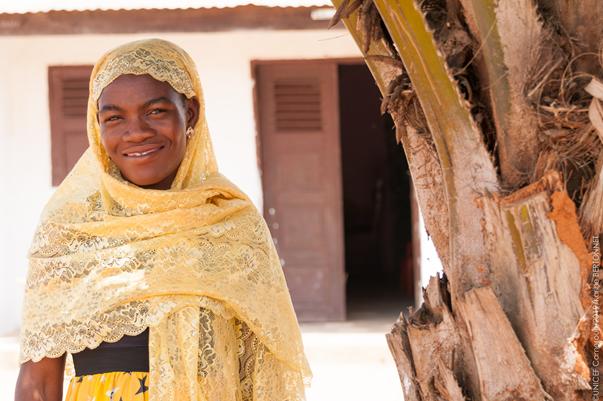 Madeleine, maman du petit Joseph, croit au centre préscolaire communautaire