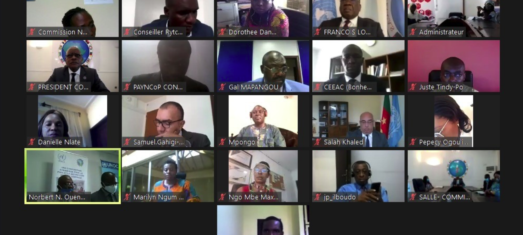 L'UNOCA, l'UNESCO et la CEEAC ensemble pour considérer le combat contre la COVID-19 comme opportunité pour une résolution durable des conflits armés en Afrique centrale